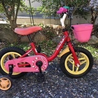 幼児用自転車(ブリジストン、補助輪つき)