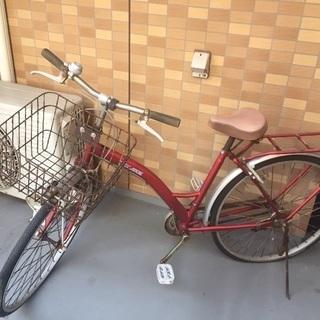 自転車 赤 26インチ