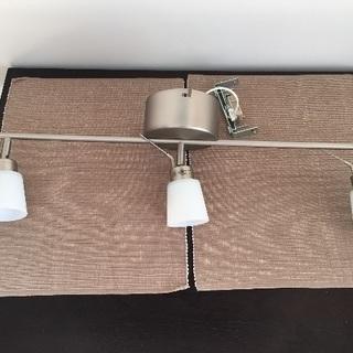 IKEA 天井照明 3連×2個 電球6個含む