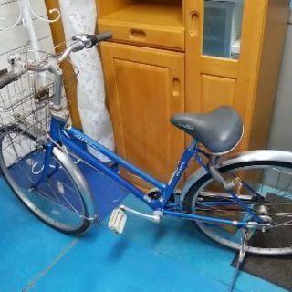 自転車、26インチ、かご付き。タイヤ正常、ブレーキ正常、3段切り替...