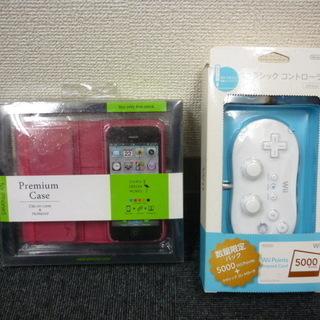 任天堂 Wii クラシックコントローラー&i phone 5 ケ...