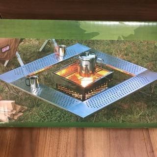 新品 未開封 コールマン ファイアープレイステーブル 焚き火台テー...