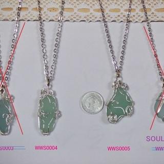 ハンドメイド 全て手作り シーグラス ネックレスにプレゼントにどうぞ!