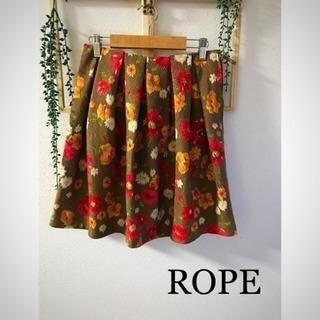 ☆ROPE☆お花柄スカート