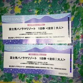 富士見パノラマリゾート 割引券 2枚セット