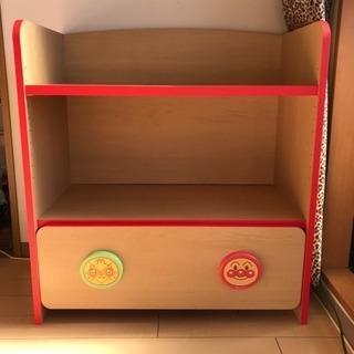 アンパンマンのおもちゃ箱 お片づけキャビネット 本棚 おもちゃ棚