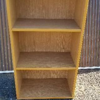 中古/三段カラーボックス 収納ボックス