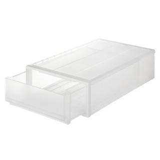 無印 PP収納ケース  4個セット(約幅40×奥行65×高さ18cm) - 家具