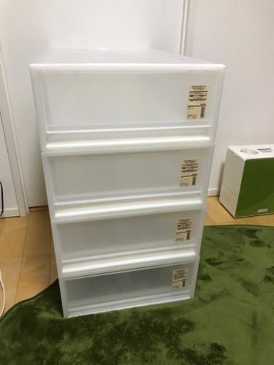 無印 PP収納ケース 4個セット(約幅40×奥行65×高