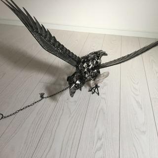 (交渉中)金属の鳥のオブジェ