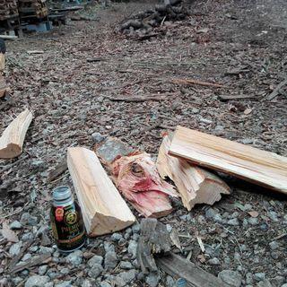 期間限定値引きあり!広葉樹ケヤキの未乾燥薪。平成30年1月伐採。0...