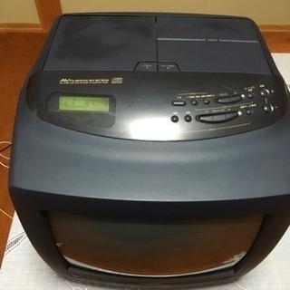 超希少 ブラウン管テレビデオ&CDカセットラジオ