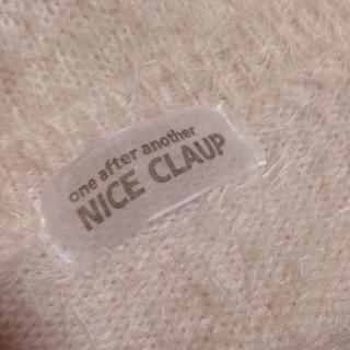NICE CLAUP   モヘア   ニット  ふわふわ薄ピンク