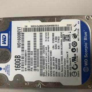 2.5インチ SATA ハードディスクドライブ 160GB