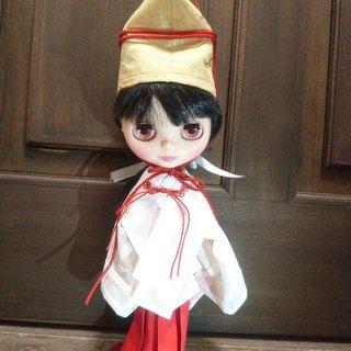 1/15(月)ブライスちゃん着物WSシリーズ企画☆巫女の金烏帽子を...