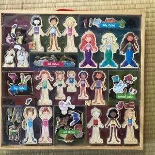 T.S.Shure社製 木製知育玩具 マグネット着せ替え人形
