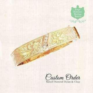 Custom Order Raised Diamond Desi...