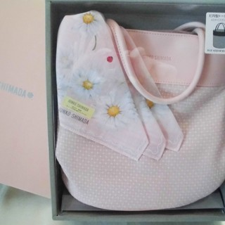 新品箱入りJUNKO SHIMADAのトートバッグとハンカチのセット