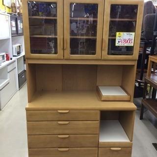 【値下げしました】カリモク 3面食器棚 カップボード 福岡 糸島