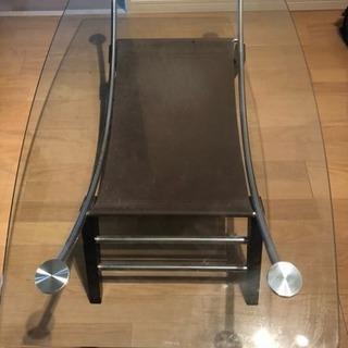ガラステーブル - 家具