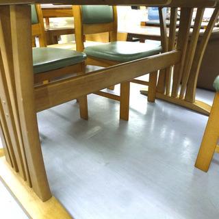 手稲リサイクル 4人掛け ダイニングセット 木目 椅子4脚付 ¥16,800- − 北海道