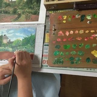 【募集】東貝塚駅徒歩4分☆子どもから大人までの油絵教室