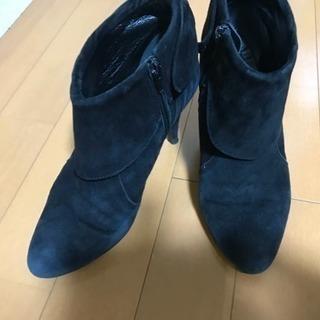 日本製のスェード・ショートブーツ