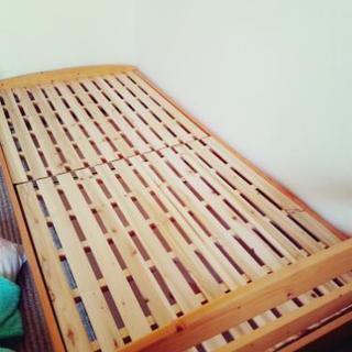 美品✨木製 シングルベッド すのこ