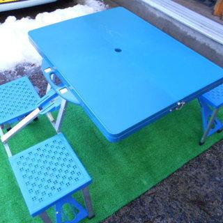 中古 折りたたみテーブル・チェア付き アウトドア用品