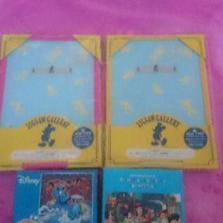 ディズニー ジグソーパズル108ピース 2組 パネル付 中古品