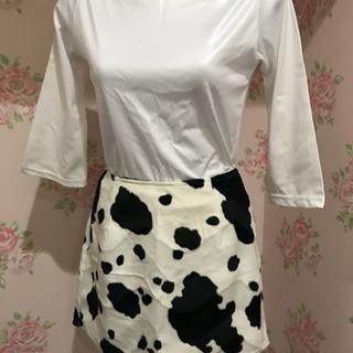 M-Lサイズ 牛柄ミニスカート