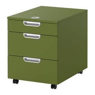 IKEA GALANT 引き出しユニット キャスター付き グリーン...