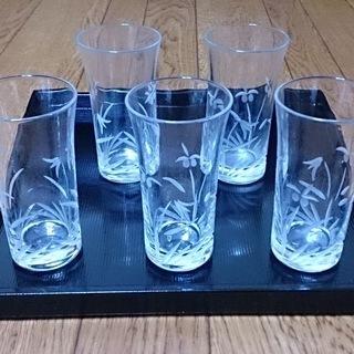 無料 コップ グラス5個セット
