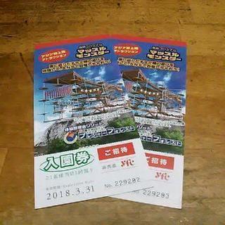 さがみ湖リゾートプレジャーフォレスト入場券2枚¥2000