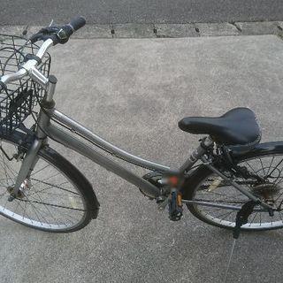 中古 27インチ 自転車 オートライト 変速付き (状態良好)