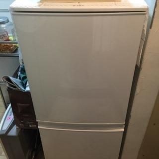 シャープ2015年制SJ-D14A-W2ドア冷凍 冷蔵庫