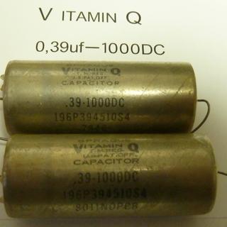 本物 SPRAGUE  VITAMIN  Q  0,39DC10...