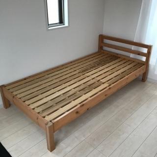 木製 ベッド シングルベッド