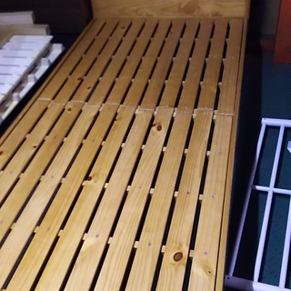 [シングル木製ベッド]a⁑リサイクルショップヘルプ