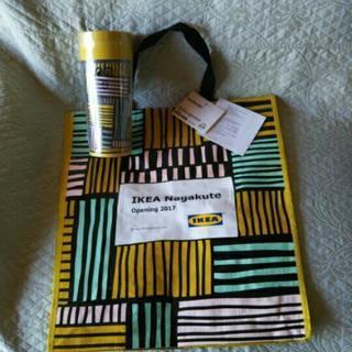 【新品、未使用】IKEA長久手限定タンブラーとショッピングバッグ