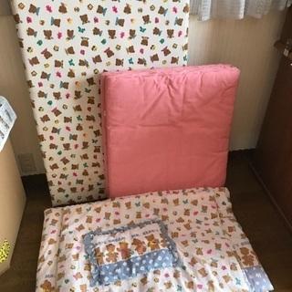 ベビーベッド寝具付き¥2900‼️