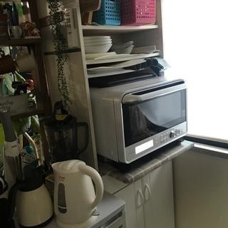 レンジを置きたかった為仕様変更済み食器棚