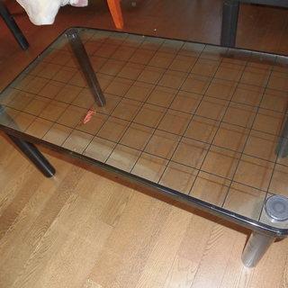 小型ガラステーブル