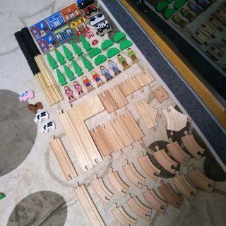 橋付き 木製レールセット