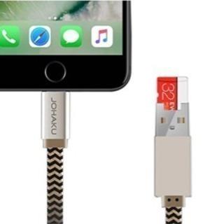 2in1 microSDカードリーダ機能付き 充電対応 iPho...