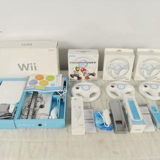 任天堂 Wii 本体 ハンドル X3 ヌンチャク リモコン等セット