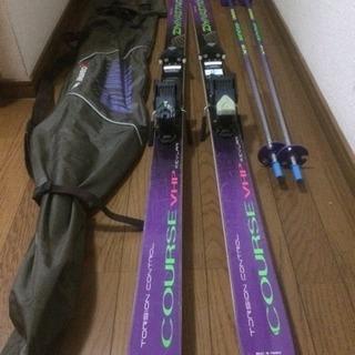 スキー板、ストック、カバー の3点セット 【ジャンク品】