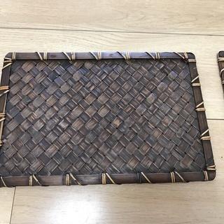 (中古) 編み込みされた 竹(?)のランチョンマット 10枚