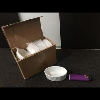 新品 かわいい白の小さい陶器 10個セット 小皿