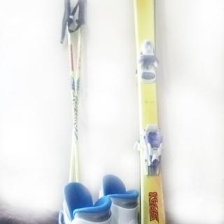 スキー板、靴セット(小学校低学年向け)